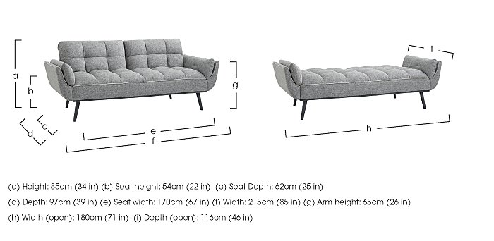 Collette Fabric Sofa Bed in  on FV