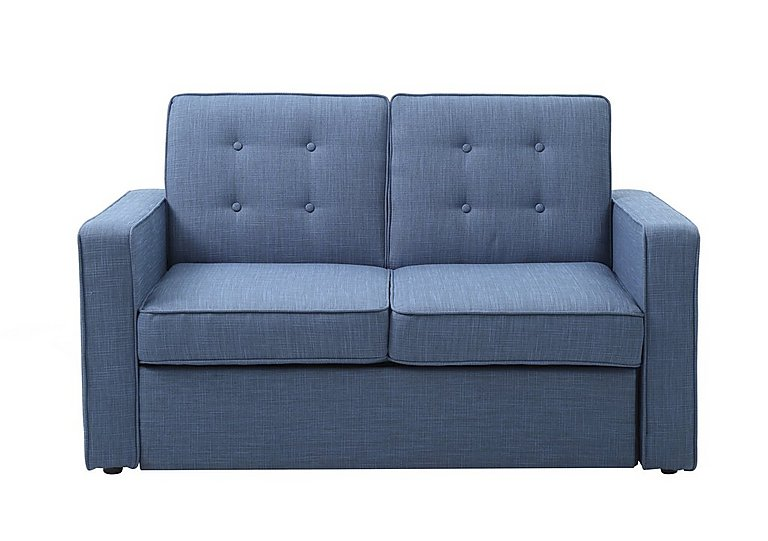 Julia Fabric Sofa Bed in Victoria Denim- Blue Denim on Furniture Village