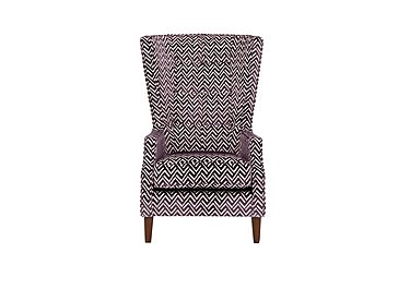 Viola Fabric Accent Armchair in Percy Plum Dark Antique on FV