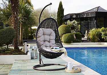Oasis Rattan Hanging Chair in Brown on FV