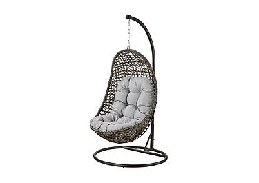 Oasis Rattan Hanging Chair in Grey on FV