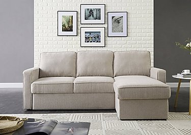 Ava Fabric Chaise Sofa Bed with Storage in  on Furniture Village