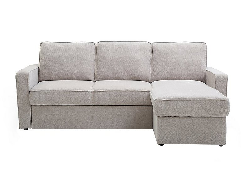Ava Fabric Chaise Sofa Bed with Storage