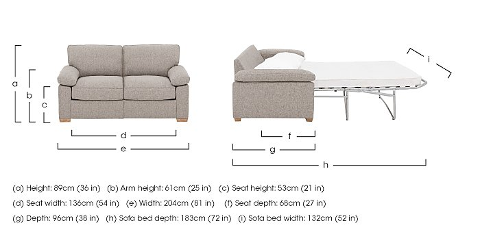 The Weekender Drift 3 Seater Deluxe Fabric Sofa Bed in  on FV