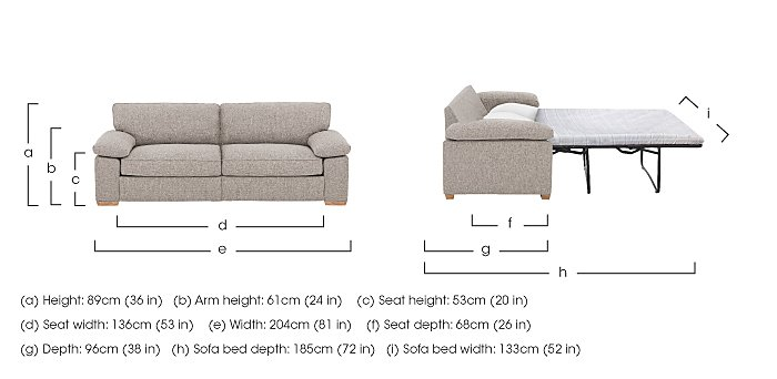 The Weekender Drift 3 Seater Fabric Sofa Bed in  on Furniture Village