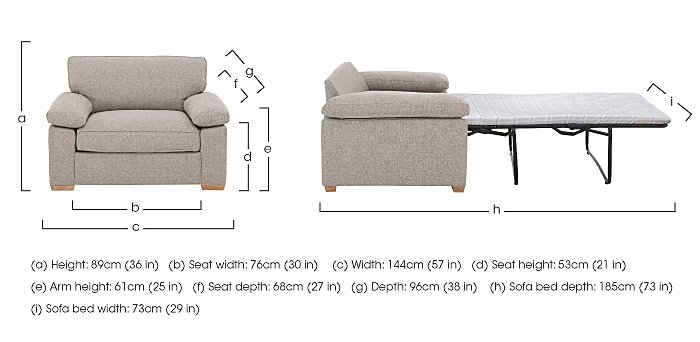 The Weekender Drift Fabric Sofa Bed Chair in  on Furniture Village