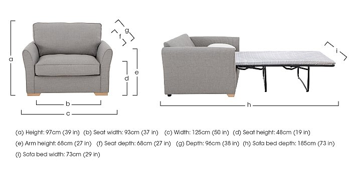 The Weekender Breeze Fabric Sofa Bed Chair in  on Furniture Village