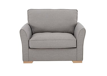 The Weekender Breeze Fabric Sofa Bed Chair in Barley Silver Lt on Furniture Village