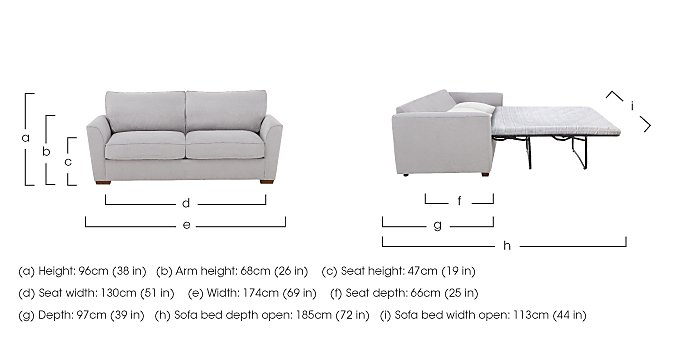 The Weekender Fable 2 Seater Fabric Sofa Bed in  on FV