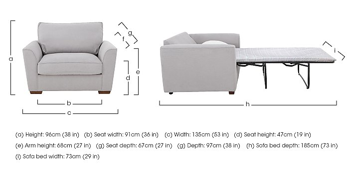 The Weekender Fable Fabric Sofa Bed Chair in  on FV
