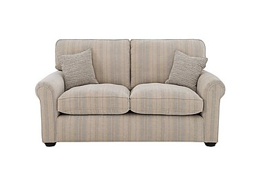 Newhaven 2 Seater Fabric Sofa in 6025-83 Windsor Strp Duck Egg on FV