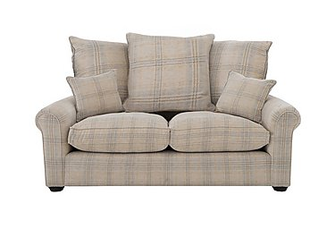 Newhaven 2 Seater Fabric Sofa in 6025-83 Windsor Check Duck Egg on FV