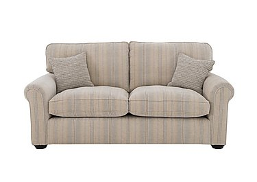 Newhaven 2.5 Seater Fabric Sofa in 6025-83 Windsor Strp Duck Egg on FV