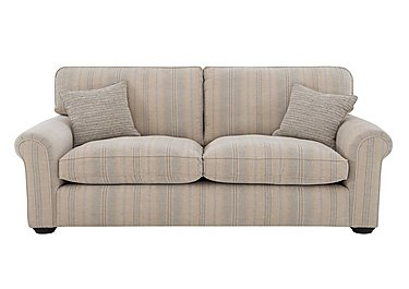 Newhaven 3 Seater Fabric Sofa in 6025-83 Windsor Strp Duck Egg on FV