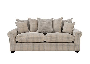 Newhaven 3 Seater Fabric Sofa in 6025-83 Windsor Check Duck Egg on FV