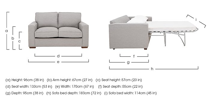 The Weekender Dune 2 Seater Deluxe Fabric Sofa Bed in  on Furniture Village