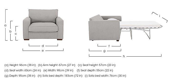 The Weekender Dune Deluxe Fabric Sofa Bed Chair in  on Furniture Village