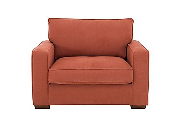 The Weekender Dune Deluxe Fabric Sofa Bed Chair in Cosmo Spice Dk on FV