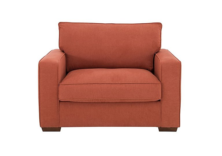 The Weekender Dune Fabric Sofa Bed Chair in Cosmo Spice Dk on Furniture Village