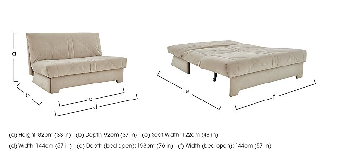Aztec 2 Seater Fabric Sofa Bed Furniture Village