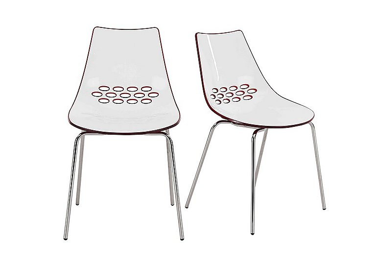 Jam Pair of Dining Chairs in Red on Furniture Village