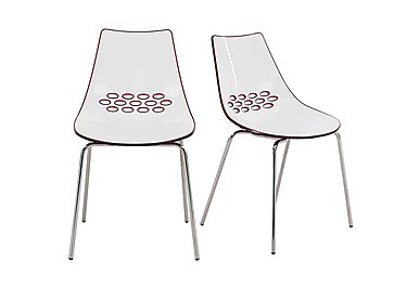 Jam Pair of Dining Chairs in Red on FV