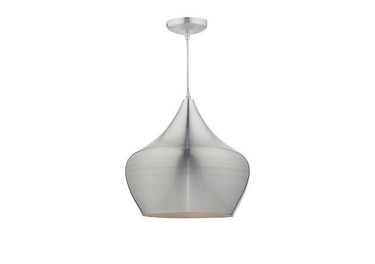 Romy Pendant Light in Aluminium on Furniture Village