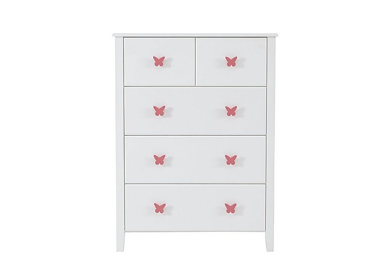 Blossom 5 Drawer Chest in Pink on FV