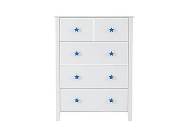 Supernova 5 Drawer Chest in Blue on Furniture Village
