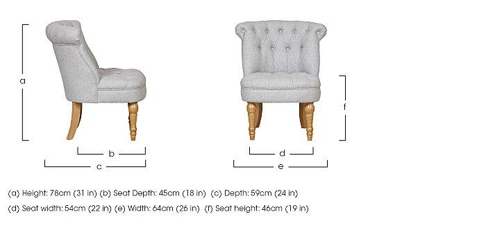 Taplow Fabric Armchair in  on Furniture Village