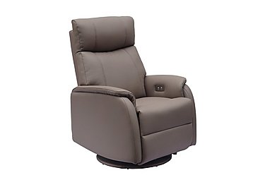 Budapest Faux Leather Recliner Armchair in Earth Plush on FV