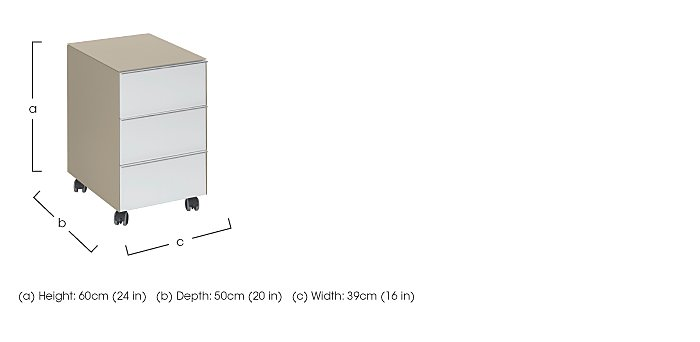 Wall Street 3 Drawer Pedestal in  on Furniture Village