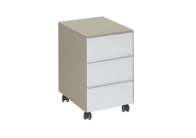 Wall Street 3 Drawer Pedestal in Sand on Furniture Village