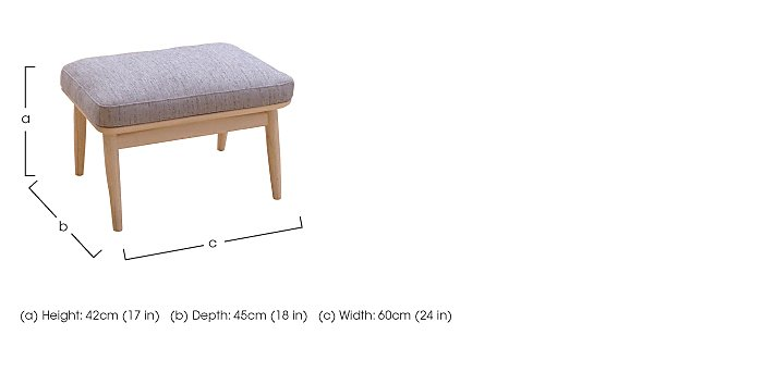 Marino Fabric Footstool in  on Furniture Village