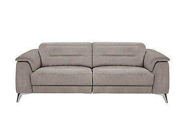 Sanza 3 Seater Fabric Recliner Sofa in Bfa-Raf-R946 Silver Grey on Furniture Village