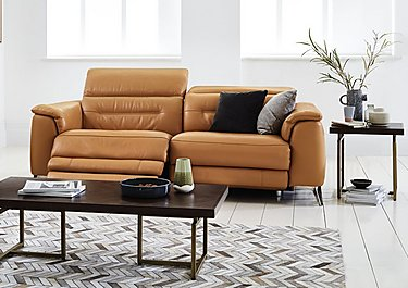 Sanza 3 Seater Leather Recliner Sofa in  on FV
