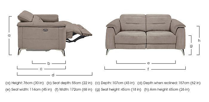 Sanza 2 Seater Fabric Recliner Sofa in  on FV