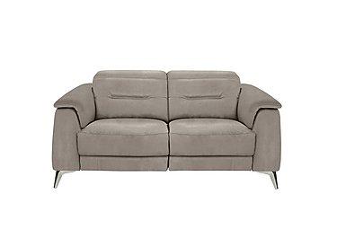 Sanza 2 Seater Fabric Recliner Sofa in Bfa-Raf-R946 Silver Grey on FV