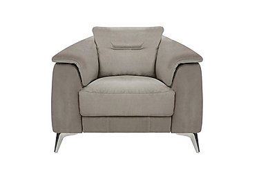Sanza Fabric Recliner Armchair in Bfa-Raf-R946 Silver Grey on FV