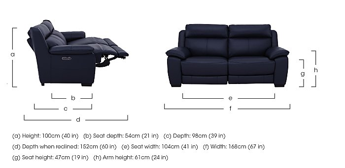 Starlight Express 2 Seater Leather Recliner Sofa with Power Headrests in  on Furniture Village