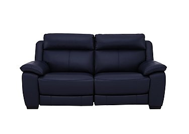 Starlight Express 2 Seater Leather Recliner Sofa with Power Headrests in Bv-3520 Navy Blue on FV