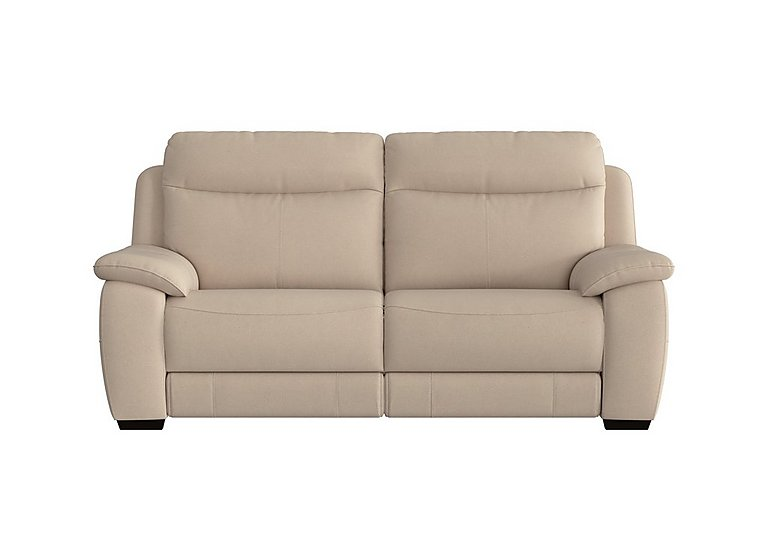 Starlight Express 3 Seater Fabric Recliner Sofa with Power Headrests in Bfa-Blj-R20 Bisque on Furniture Village