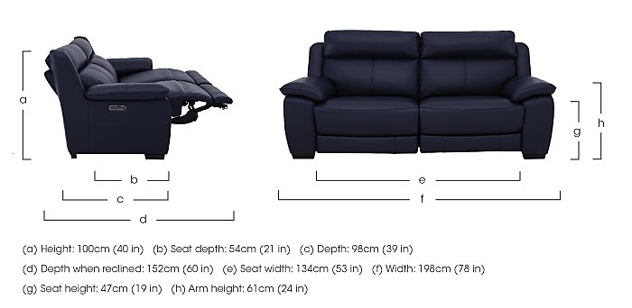 Starlight Express 3 Seater Leather Recliner Sofa with Power Headrests in  on Furniture Village