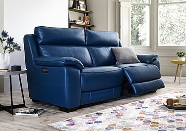 Starlight Express 3 Seater Leather Recliner Sofa with Power Headrests in  on FV