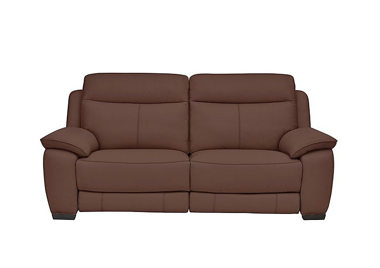 Starlight Express 3 Seater Leather Recliner Sofa with Power Headrests
