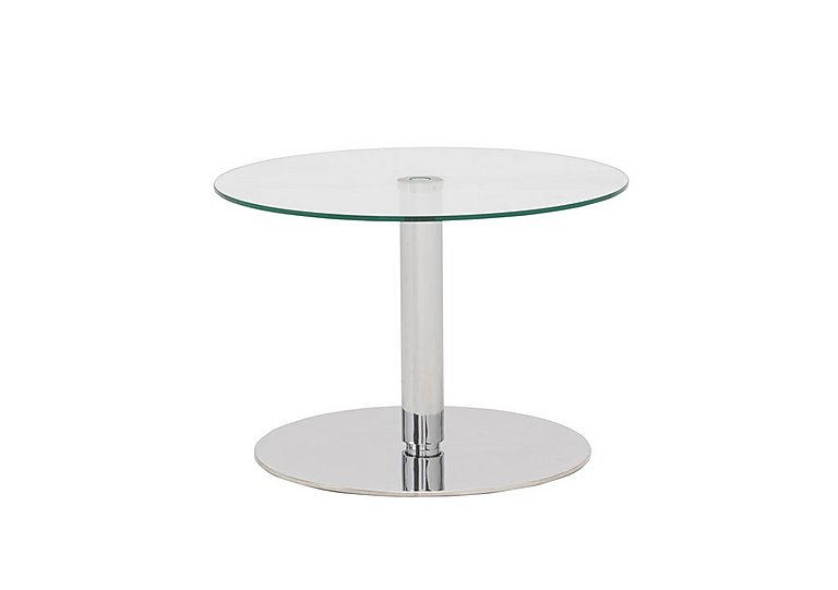 Lift Lamp Table in Clear Glass on Furniture Village