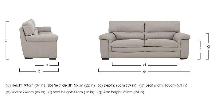 Georgia 3 Seater Fabric Sofa in  on Furniture Village