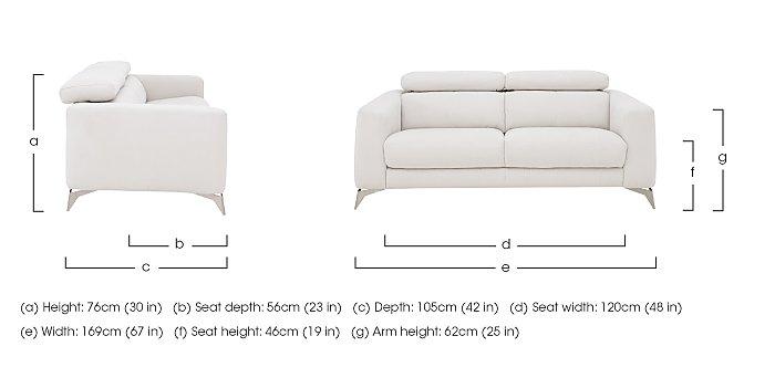 Flavio 2 Seater Fabric Sofa in  on Furniture Village
