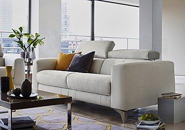 Flavio 2 Seater Fabric Sofa in  on FV