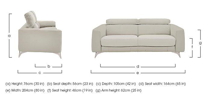 Flavio 3 Seater Leather Sofa in  on FV
